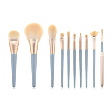 10 Stück Skyblue flauschige tragbare Make-up Pinsel Set