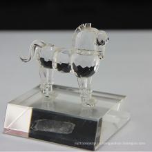 Натуральный Кристалл лошадь фигурки для украшения