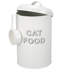 Pet Food Storage Tin With Serving Scoop