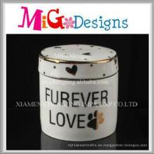 Caja de joyería decorativa de cerámica casera hecha a mano al por mayor