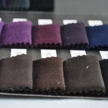 Großhandel verschiedene Farbe Baumwolle Velour Stoff regulären Lager