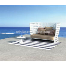 SL-(86) wicker rattan outdoor furniture double seat high back sofa chair