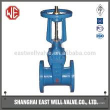 Sulfuric acid gate valve
