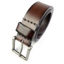 EURO alta calidad en relieve logotipo hombre cinturón de cuero