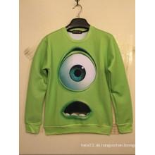 Großes grünes einzelnes Augen-Druck-Hemd-lange Hülse