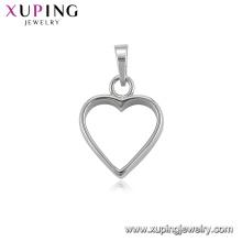 34467 Xuping suministros de fabricación de joyas colgante de corazón imitación de rodio plateado joyería