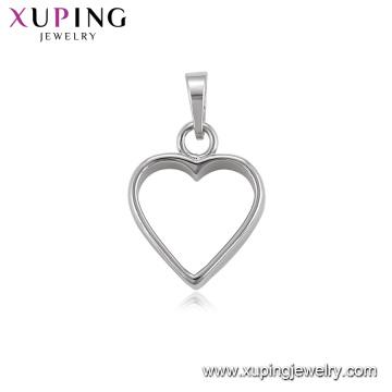34467 xuping jewelry making supplies heart pendant rhodium plated imitation jewellery