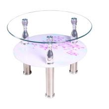 Barato vidrio lado mesa/mesa de centro/muebles caseros