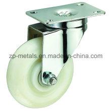 Roulette pivotante blanche de taille moyenne PP