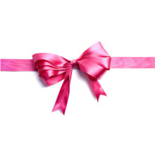 lovely handmade pink satin ribbon bow