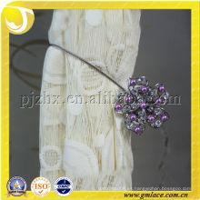 Clip de cortina decorativo con cuentas de color púrpura