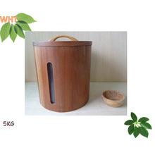 Petit seau à bois en bois sur mesure
