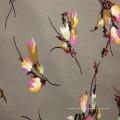 Ткань Rayon chenille с цветочным узором 60-х годов
