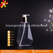 polygon transparent PETG plastic bottle 330ml