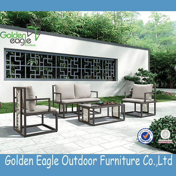 aluminium tube outdoor rattan garden furniture