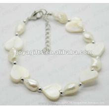 Moda Joya Blanco Perla Corazón Perla Perla Anklet