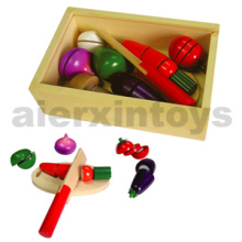 Wooden Cutting Vegetable Toy (80206)