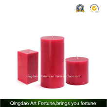 Handmade Scented Aroma Pillar Candle for Household Use