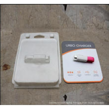 Clear PET Blister Packing Box With Printed Cardboard For Electronics Products