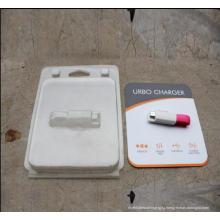 Прозрачные ПЭТ-блистерная упаковка с напечатанным картона для продуктов электроники