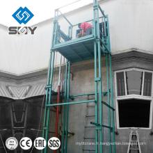 Voiture de rail de guide hydraulique de Henan Yuntian / plate-forme de levage matérielle