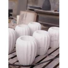 Jazz weiße Marmorvase