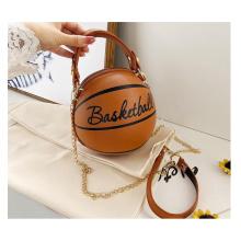 Popular new trending fashion lady's ball shape bag travel shoulder messenger bag single chain crossbody bag
