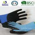 13 Gauge Nylon Liner, Nitrile Coating, Sandy Finish Safety Work Gloves (SL-NS105)