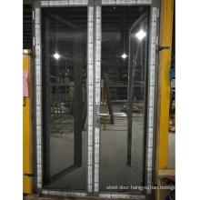 Modern aluminum  french patio double casement/ swing door
