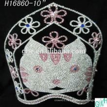 Красивая коронная корона большая корона для кошек, высокие тиары животных для продажи