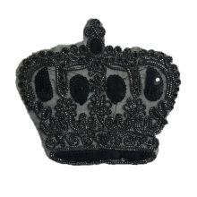 Abzeichen Stickerei schwarze Krone Patches Abzeichen