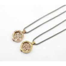Rd 30mm 316L Stainless Steel Living Locket Pendant Necklace