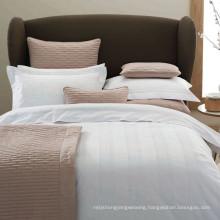 100% Cotton/ T/C 50/50 Satin Check Hotel/Home Textile Bed Linen (WS-2016347)
