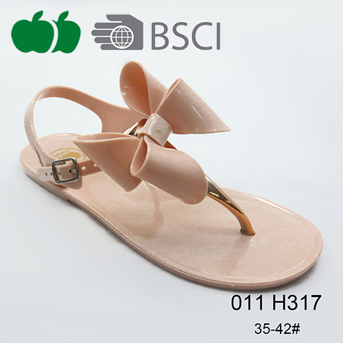 Sexy Pvc Simple conception Ladies Fashion sandales plates