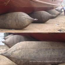 Airbag gonflable en caoutchouc gonflable certifié par ISO14409 pour le lancement de bateau, amarrage à sec