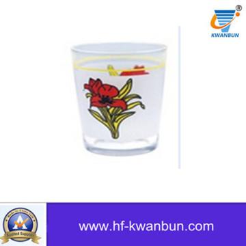 Стеклянная чашка чашка чая с тумблером цветка Decal Kb-Hn0752