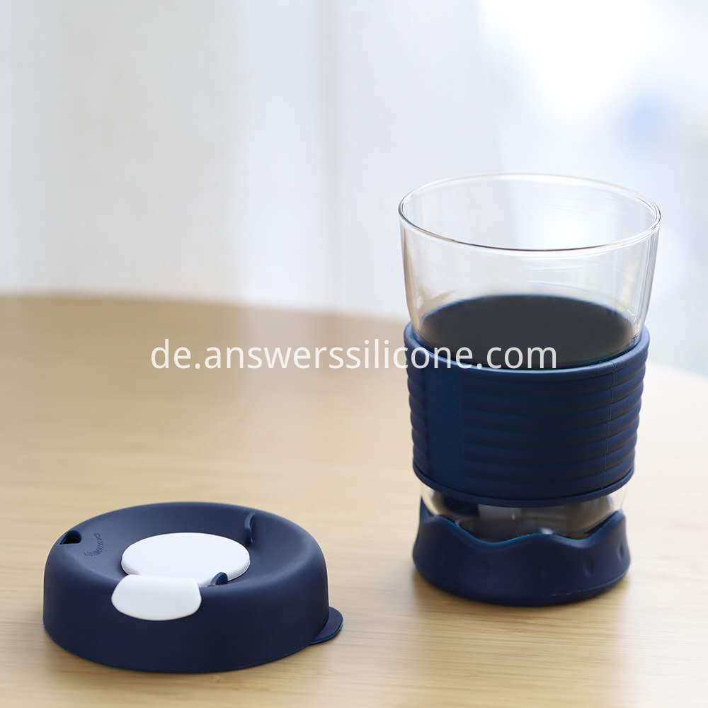 silicone sleeve coffee cup