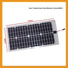 28W Componente fotovoltaico solar flexible de paneles solares de silicio monocristalino