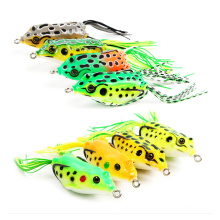 Fish Accessories Lures Double Hooks Frog Artificial Soft Tackle Baits For Fishing Set Lure