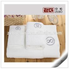 Super qualité 16s Excellente absorption d'eau en gros blanc blanc serviettes d'hôtel en coton