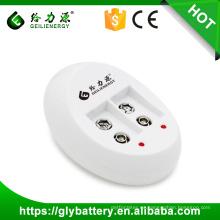Cargadores de batería Gle-840 9v 9v DC 80ma * 1 50ma * 2 Cargador recargable de Battey