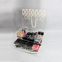 Klarer Acrylschmuck und kosmetisches Make-up Organizer