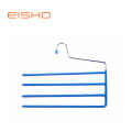 EISHO PVC Coating Multi-bares Metal Hanger For Pants