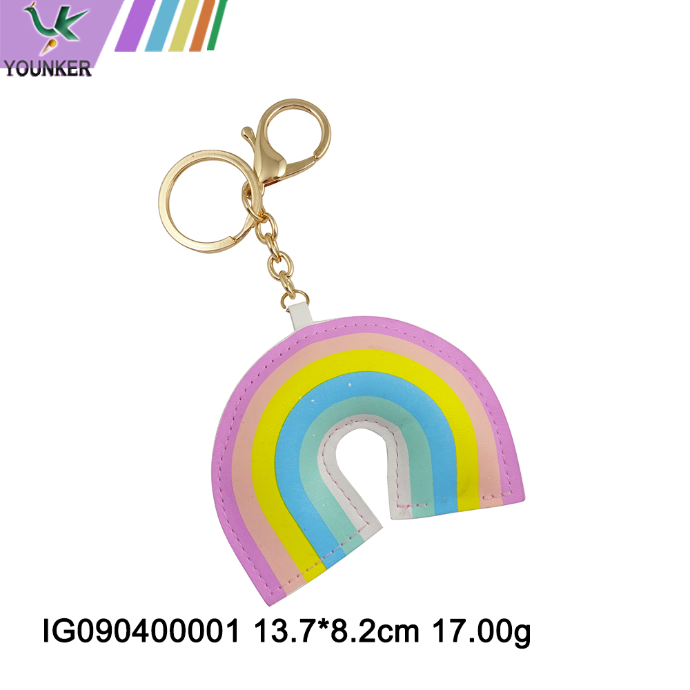Rainbow Shaped Keychain