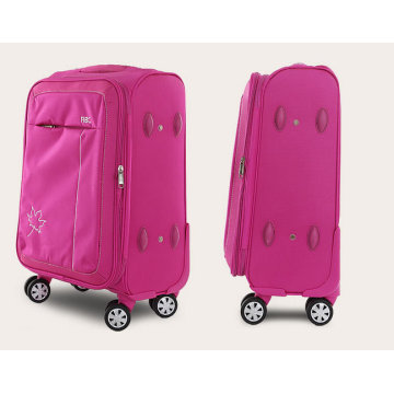 Bagage en nylon imperméable à l'eau doux de 4 roues de chariot