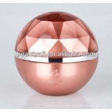 Forma de bola de plástico de lujo cosméticos jarra 5ml 15ml 20ml 30ml 50ml 80ml 100ml