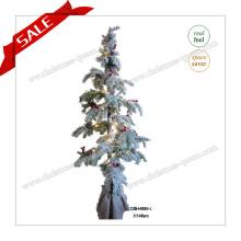 Décoration artificielle de sapin de Noël de 140 cm avec lumières LED