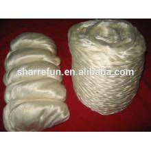 Китайский шелк-сырец волокно топы белый