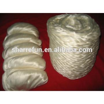 Fibras de fibra de seda cru chinesas brancas