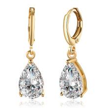 New Design Hot Zircon Drop Shape Platium Earrings Hot Sale Jewelry